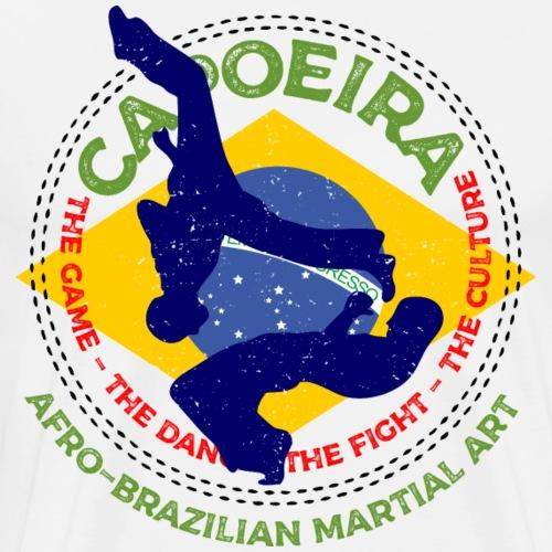 Capoeira Afro-Brazilian Martial Art 1 Spieler Tanz - Männer Premium T-Shirt