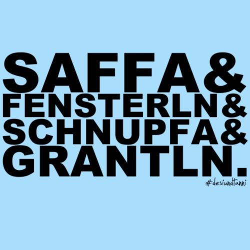 Saffa & Fensterln & Schnupfa & Grantln. - Männer Premium T-Shirt