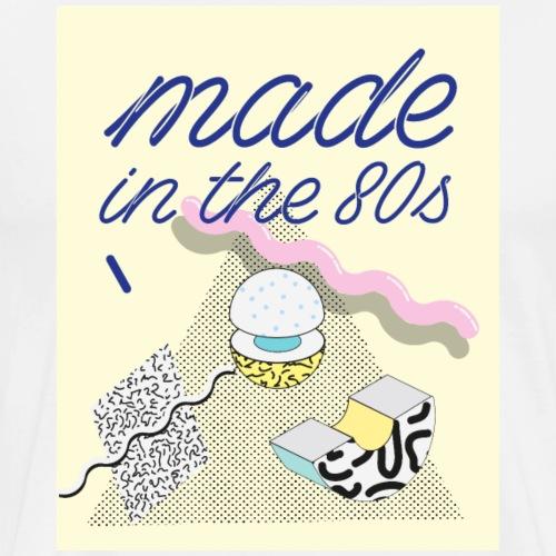 Memphis Design, Made in the 80s, Achtziger Jahre - Männer Premium T-Shirt