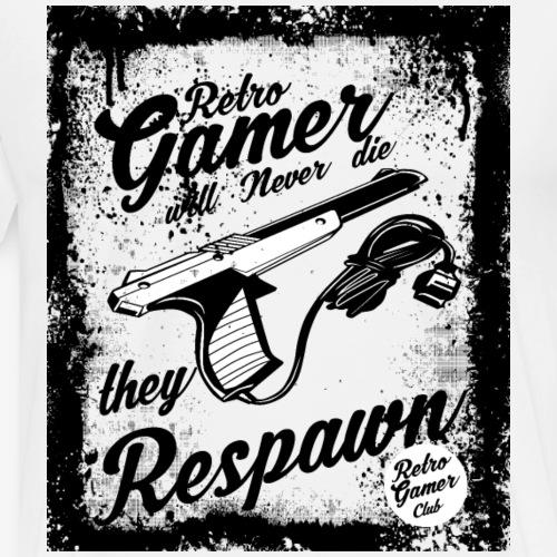 Retro Gamer Gamers Respawn Zocker - Männer Premium T-Shirt