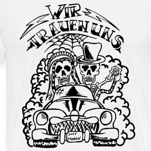 Wir trauen uns - Hochzeitsmonster (schwarz) - Männer Premium T-Shirt