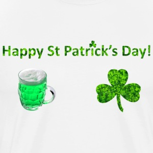 Glad St. Patricks Day - Herre premium T-shirt