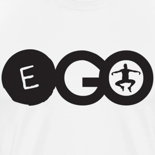 EGO logo in black - Men's Premium T-Shirt