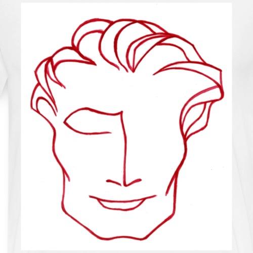 Mr solaire rouge - T-shirt Premium Homme