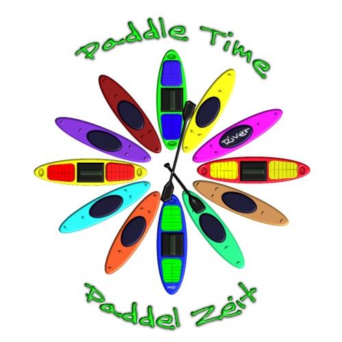 kayak Canoe clock 023 - Männer Premium T-Shirt