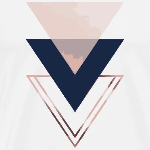 Dreiecke rose - Männer Premium T-Shirt