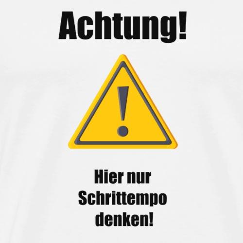 Achtung - Männer Premium T-Shirt