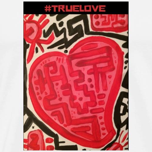 #truelove - Men's Premium T-Shirt