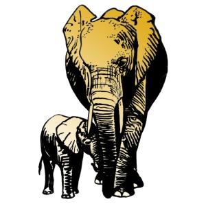Elefanten - Mutterliebe - Männer Premium T-Shirt