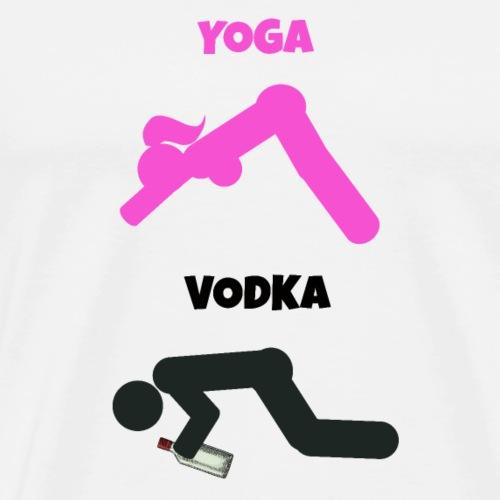 Yoga Vodka Wortspiel Strichmännchen - Männer Premium T-Shirt
