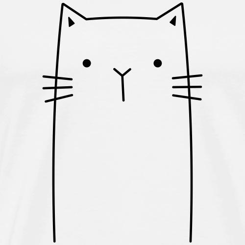 niedliche Katze Miezekatze Geschenkidee - Männer Premium T-Shirt
