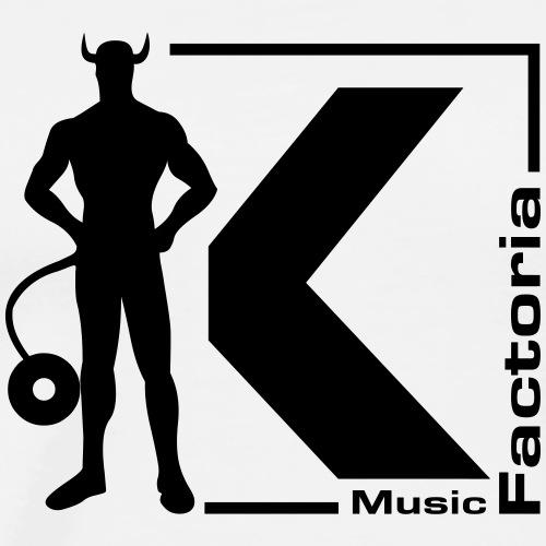 Factoria K Music (logotipo oficial) - Camiseta premium hombre