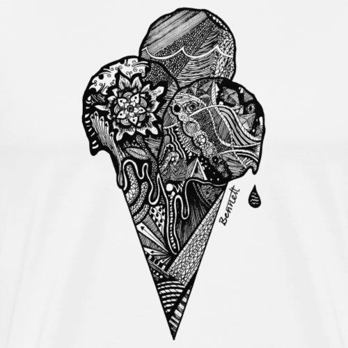 Ice cream cone - Mannen Premium T-shirt