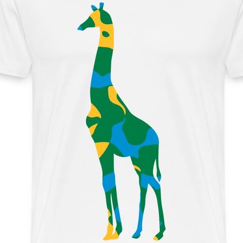 Tanzania giraffe - CAMO / CAMOUFLAGE - Männer Premium T-Shirt