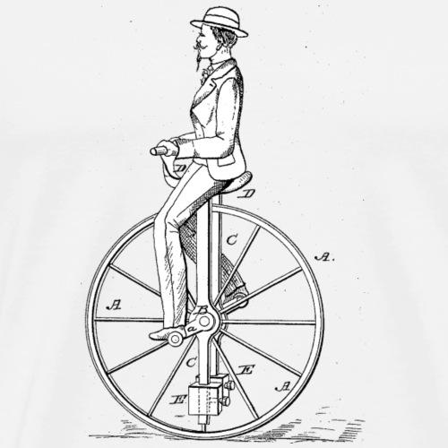 Vintage EinradOld School Minimalistisch Geschenk - Männer Premium T-Shirt