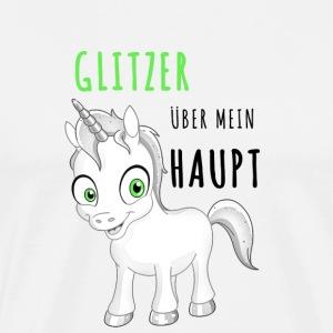 Glitzer Einhorn - Männer Premium T-Shirt