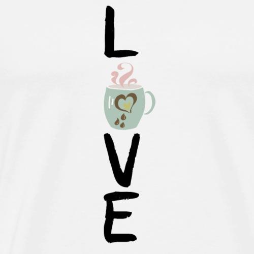 coffee love Tasse schwarz - Männer Premium T-Shirt