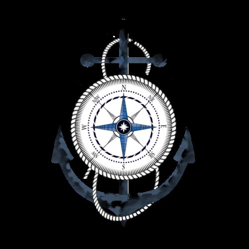 Compass and Anchor - Männer Premium T-Shirt