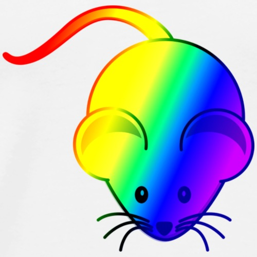 mouse rainbow - Men's Premium T-Shirt
