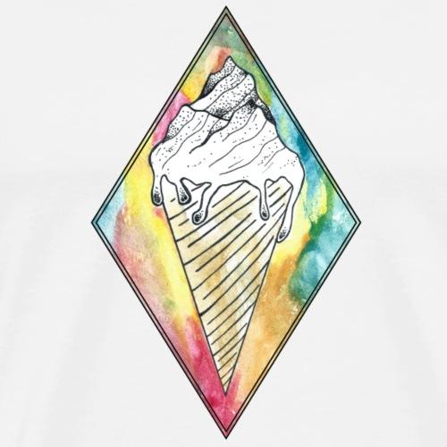 Montagne glacée - T-shirt Premium Homme