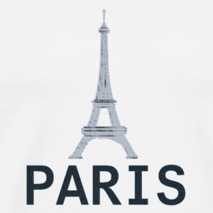 Style 2 Paris Tour Eiffel - Premium T-skjorte for menn