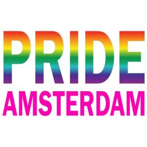 Pride Amsterdam in regenboog kleur en roze - Mannen Premium T-shirt