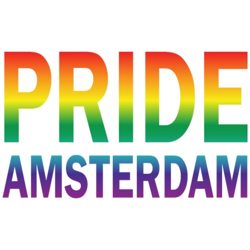 Pride Amsterdam in regenboog kleur - Mannen Premium T-shirt