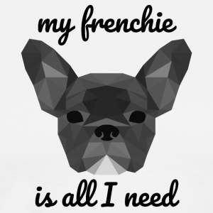 Low Poly Frenchie gray - Premium T-skjorte for menn