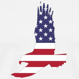 USA America Flagge Stars and Stripes Adler Eagle - Männer Premium T-Shirt