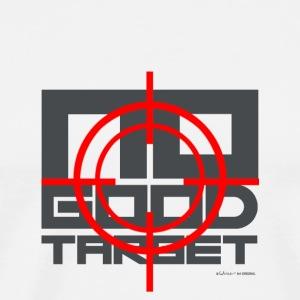NO GOOD TARGET - VIZIER - GRIJS - Mannen Premium T-shirt