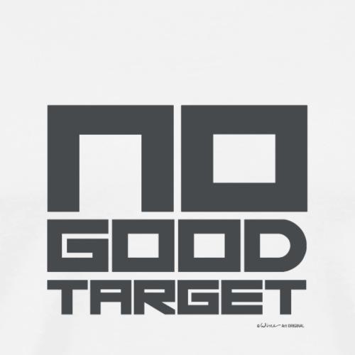 NO GOOD TARGET GRIJS - Mannen Premium T-shirt