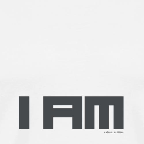 TEKST I AM GRIJS - Mannen Premium T-shirt
