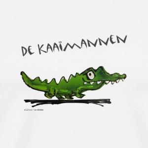 DE KAAIMANNEN WINE tekst ZWART - Mannen Premium T-shirt