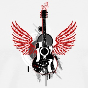 Guitar guitar wing wings graffiti music music - Men's Premium T-Shirt