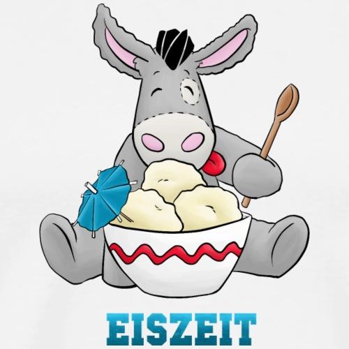 Esel - Eiszeit für Kuschelesel - Männer Premium T-Shirt