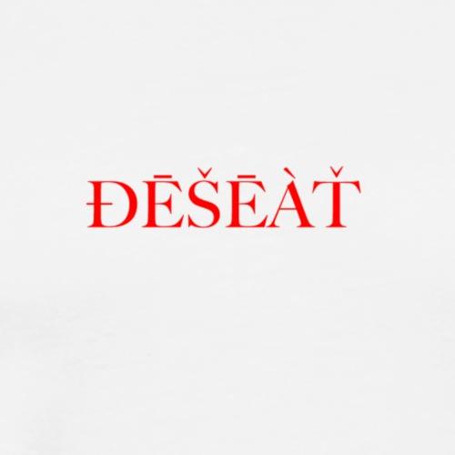 ÐĒŠĒÀŤ RED - Herre premium T-shirt