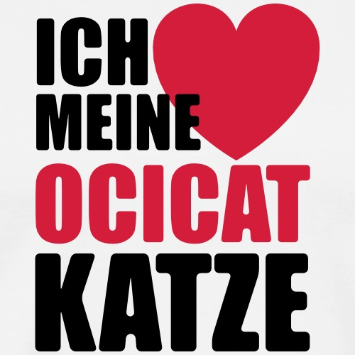 Katzen mama - Ocicat - Katzen Cat Shirt - Männer Premium T-Shirt