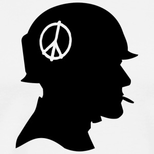 Soldier - Peace - Silhouette - Men's Premium T-Shirt