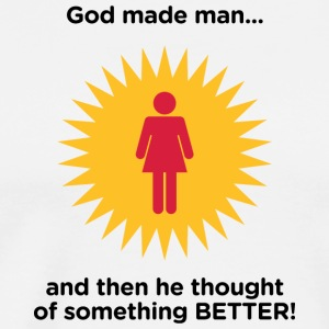 God Created Adam & Eve.And Then Something Better! - Mannen Premium T-shirt