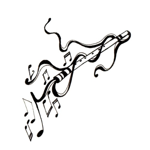 Music Art Flute - T-shirt Premium Homme