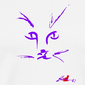 Muzzle PURPLE CAT - Men's Premium T-Shirt