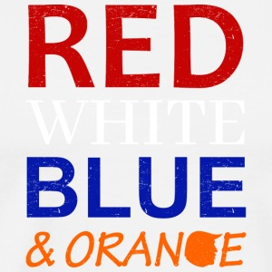 Red White Blue and Orange - Männer Premium T-Shirt