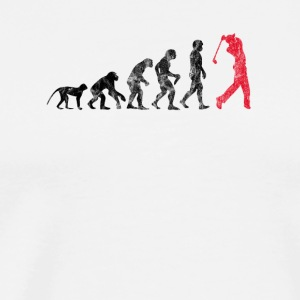 Golf Evolution used look - Mannen Premium T-shirt