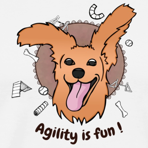 Cocker Agility Spaß - Männer Premium T-Shirt