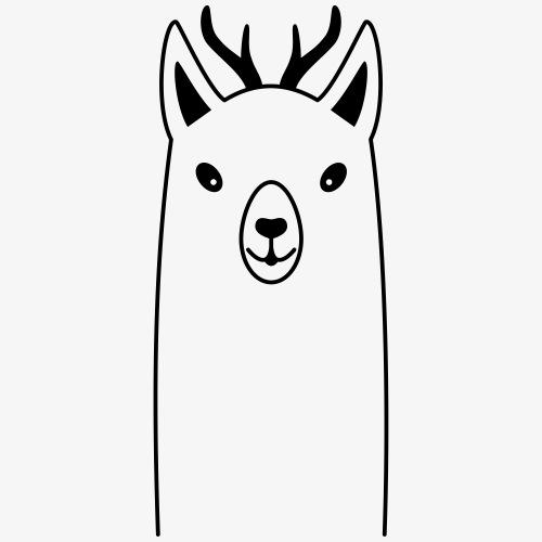 Lama Geweih wildes Lama Party Trend Geschenk - Männer Premium T-Shirt
