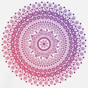 Mandala in red and purple tones, hand drawn - Men's Premium T-Shirt