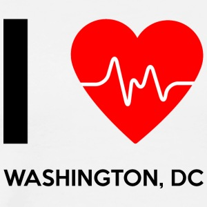 I Love Washington DC - I Love Washington DC - Premium T-skjorte for menn