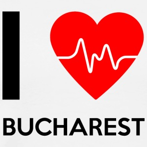 I Love Bucharest - Jeg elsker Bucuresti - Premium T-skjorte for menn
