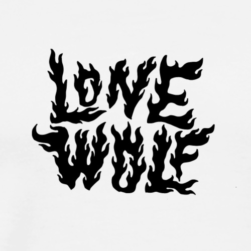 Lone Wolf - T-shirt Premium Homme