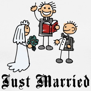 Funny Just Married - Men's Premium T-Shirt